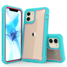 "Load image into Gallery viewer, iPhone 12 Mini 5.4"" Heavy-Duty Shockproof Rugged hard Slim Armor Case blue pink"