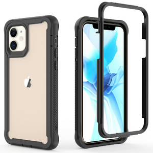 "iPhone 12 Mini 5.4"" Heavy-Duty Shockproof Rugged hard Slim Armor Case"