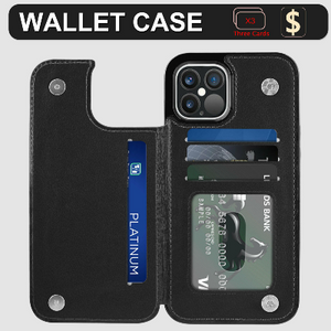 iPhone 12 Pro Max Wallet Case Magnetic Leather Stand Card Holder Cover