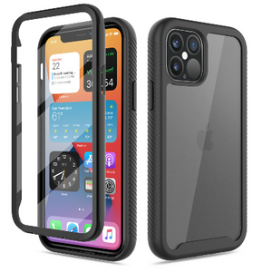 iPhone 12 Pro Max Clear Case With Built-in Screen Protector Black