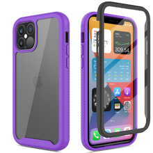 Load image into Gallery viewer, iPhone 12 Pro Max Clear Case With Built-in Screen Protector Purple