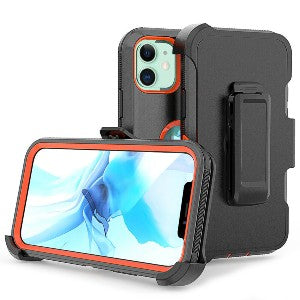 iPhone 12 Pro Max Heavy Duty Defender Shockproof Belt Clip Holster Series Case