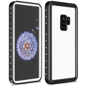Samsung galaxy S9 / S9 Plus Waterproof Case Shockproof Built-in Screen protector white