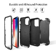 Load image into Gallery viewer, iPhone 11 Heavy Duty Defender shockproof Belt Clip Holster case