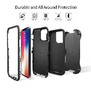 iPhone 11 Pro Max Heavy Duty Defender shockproof Belt Clip Holster case