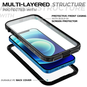 iPhone 12 Pro Max Waterproof Case Shockproof With Built-in Screen Protector