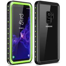 Load image into Gallery viewer, Samsung galaxy S9 / S9 Plus Waterproof Case Shockproof Built-in Screen protector green