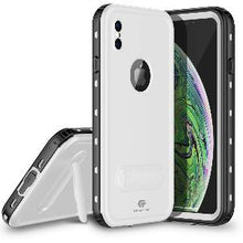 Load image into Gallery viewer, iPhone Xs Max Waterproof Case Kickstand White