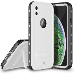 iPhone Xs Max Waterproof Case Kickstand White