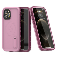 Load image into Gallery viewer, iPhone 12 Pro Max Waterproof Case Kickstand Cover with Built-in Screen Protector Pink