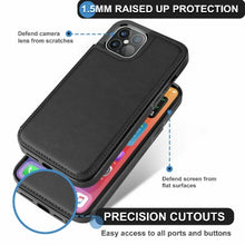 Load image into Gallery viewer, iPhone 12 Pro Max Wallet Case Magnetic Leather Stand Card Holder Cover