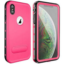 Load image into Gallery viewer, iPhone Xs Max Waterproof Case Kickstand Pink