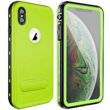Load image into Gallery viewer, iPhone Xs Max Waterproof Case Kickstand Green