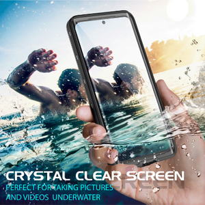 Samsung Galaxy S20 Ultra 5G Waterproof case W/ Built-in Screen Protector Kicksatnd