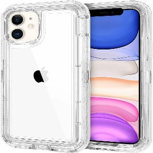 iPhone 11 Pro max Heavy Duty Defender shockproof Belt Clip Holster case clear