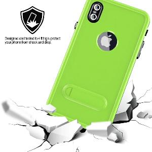 iPhone Xs Max Waterproof Shockproof Kickstand Case