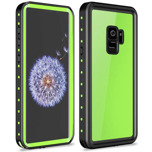 Samsung galaxy S9 / S9 Plus Waterproof Case Shockproof Built-in Screen protector green