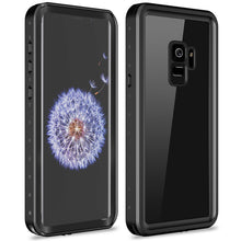 Load image into Gallery viewer, Samsung galaxy S9 / S9 Plus Waterproof Case Shockproof Built-in Screen protector black