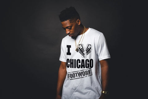 I Love Chicago Footwork Dark Print T