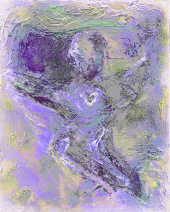 Lavender Angel Art | Modern Angel Art | New Media Angel | Peaceful Art | Fine Art Metallic Canvas | Angel Wall Art | Small Medium Large