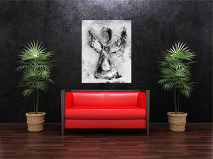 Angel Wall Art | Spiritual Angel Art | Abstract Angel | Fine Art Metallic Canvas | Visionary Art | Small Medium Large Angel Art | Peaceful