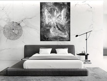 Load image into Gallery viewer, Monochrome Angel Wall Art | Contemporary Modern Angel Art | Abstract Angel | Fine Art Canvas | Black and White Angel Art | Inspirational
