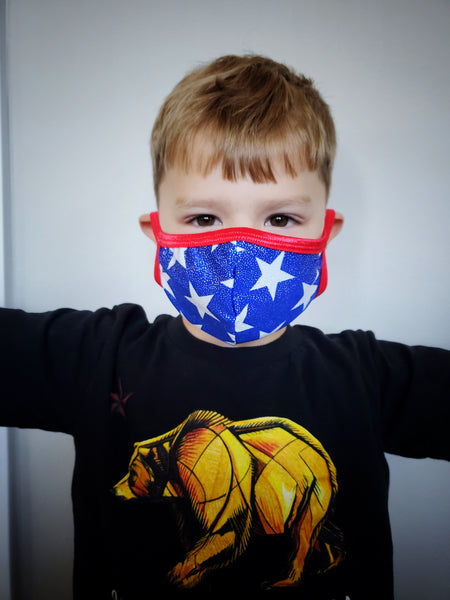 Kid's Luxury Spandex Face Mask with Filter Pocket