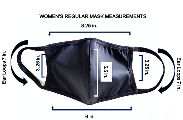 Women's Luxury Spandex Face Mask with Filter Pocket