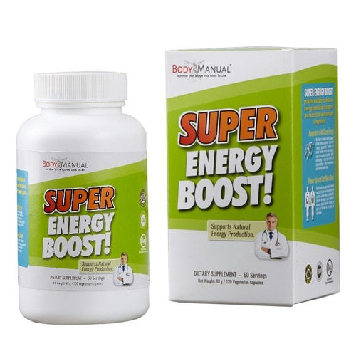 bodymanual Capsules (2-Month Supply) Super Energy Boost - Capsules, Packets, Powder