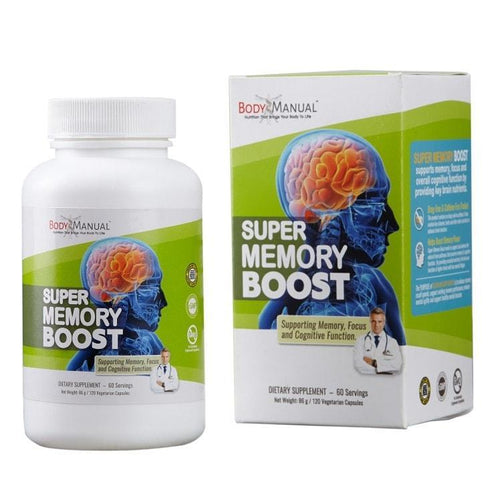 bodymanual Capsules (2-Month Supply) Super Memory Boost - Capsules, Packets, Powder