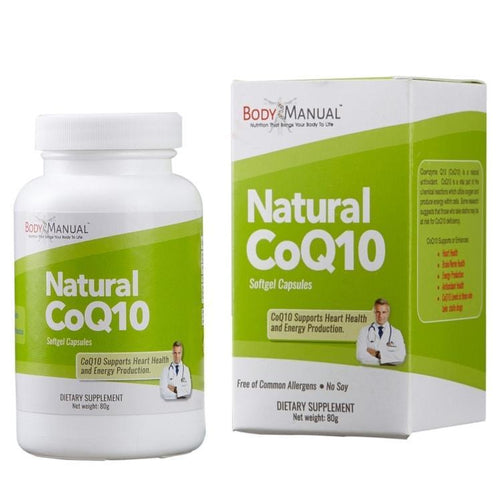 bodymanual Natural CoQ10 - Softgels (2-Month Supply)