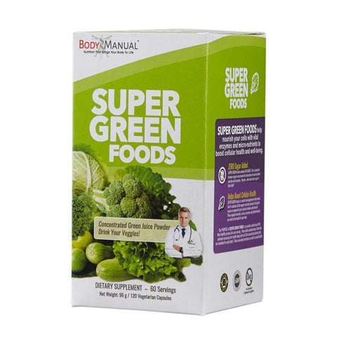 Super Green Foods - Capsules, Packets, Powder