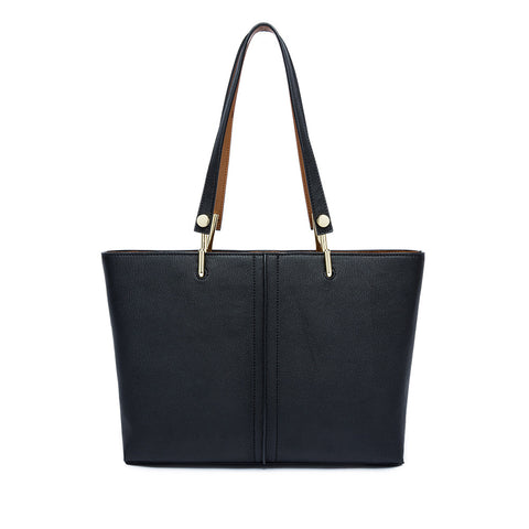 5a4d39b689 ... Calf Leather Simple Design Large Tote Bag - Burgundy ...