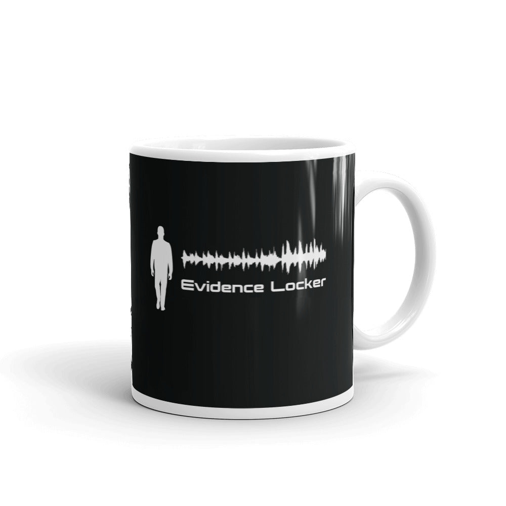 Evidence Locker Mug Black Print