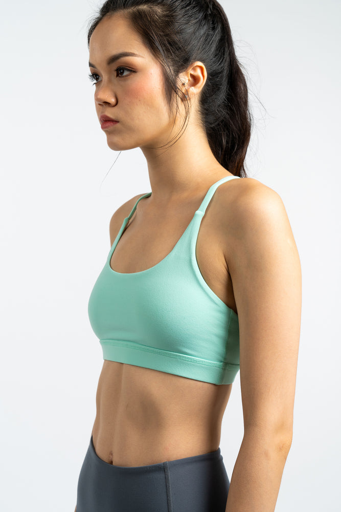 Gym Squad Active Agility Mesh Bra in Mint