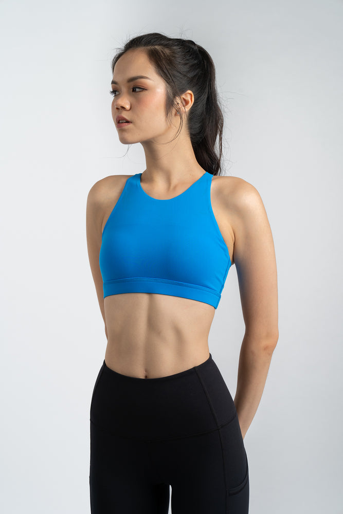 Power Up X-back Bra in Sonic Blue