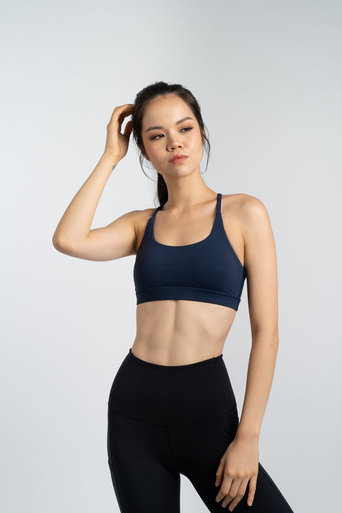 Agility Mesh Bra in Navy