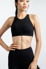 Gym Squad Active Power Up X-Back Bra in Jet Black