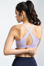 Power Up X-Back Bra in Lilac