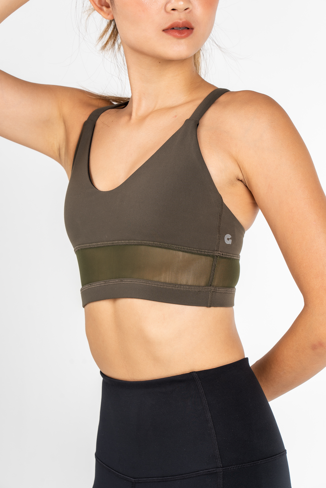 Andrea Midline Bra in Army Green