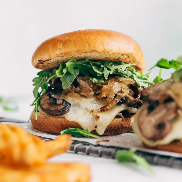 LotusGrill: Mushroom and Garlic Vegetarian Burger