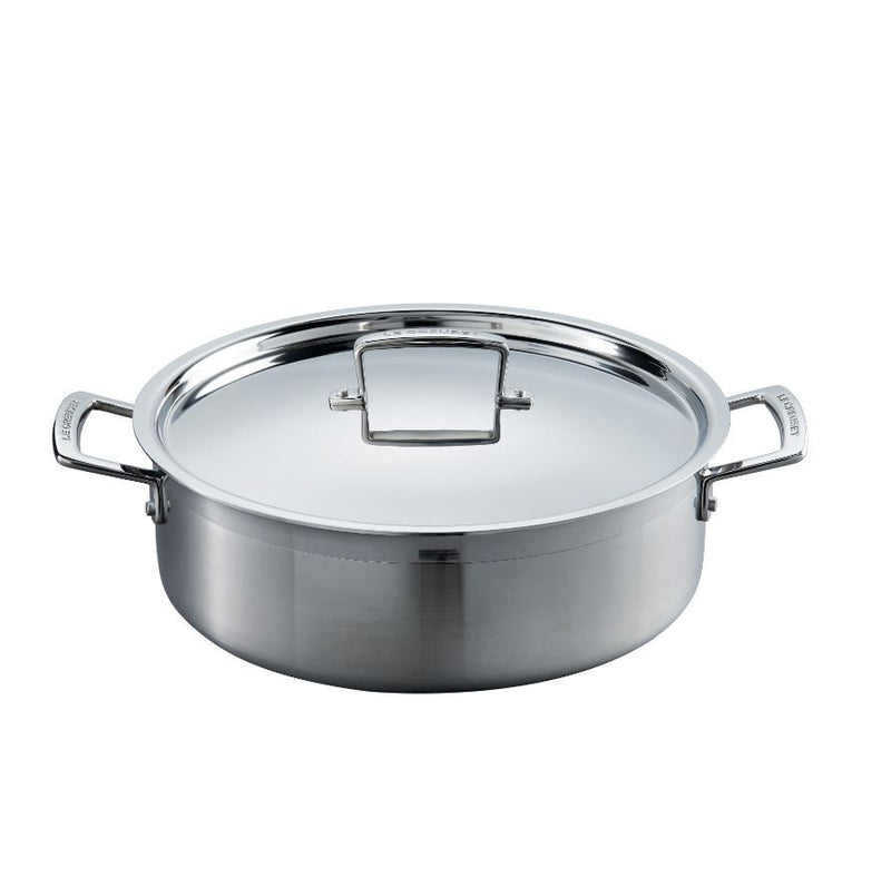 Le Creuset 3-Ply Stainless Steel 28cm Sauteuse