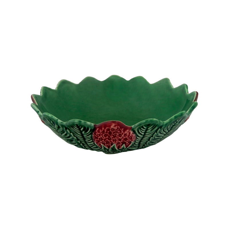 Bordallo Pinheiro Strawberry Dish - 23cm