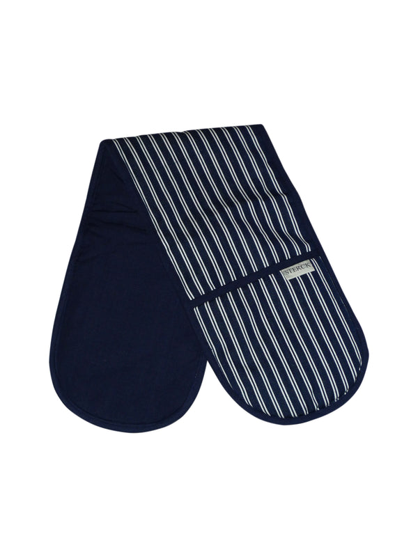 Double Oven Glove - Butchers Stripe