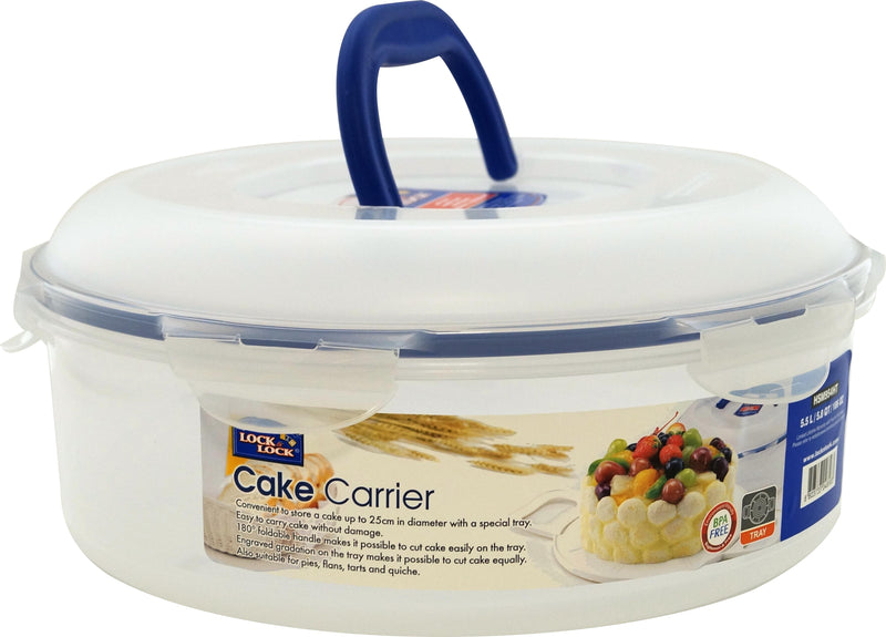 Lock & Lock Round Cake Box with Tray – 5.5L