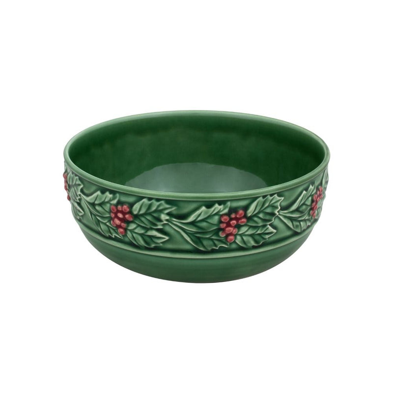 Bordallo Pinheiro Christmas Holly Bowl - 25cm