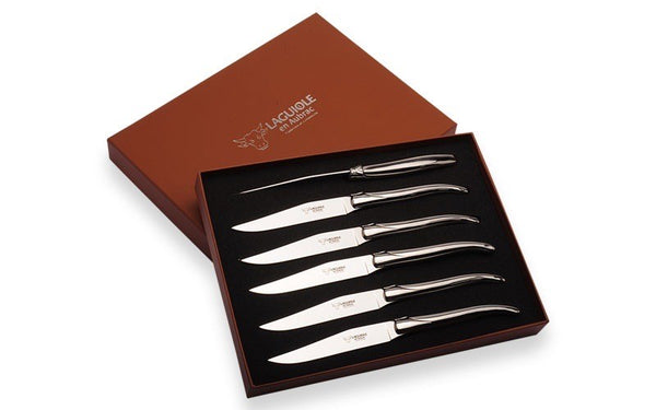 Laguiole Stainless Steel Steak Knives - Set of 6