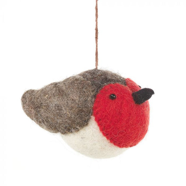 Handmade Christmas Tree Decoration - Robin