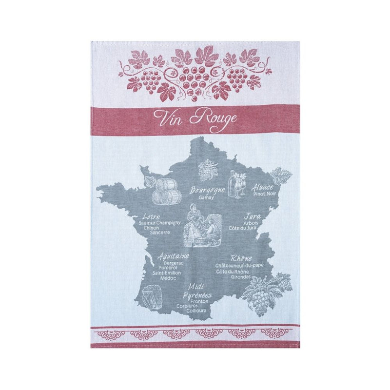 Coucke Jacquard Kitchen Towel - Red Wine