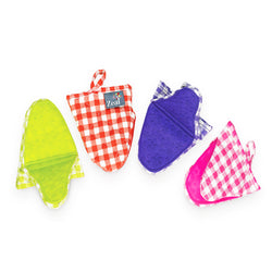 Hot Grab Mini Mitt Silicone & Gingham Assorted Colours
